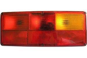 Фонарь задний левый (24V, прямоугольный, желто-красный) АВТОТОРГ 0121 LSK ж/к, 0121LSK/L ж/к, ФП130-В