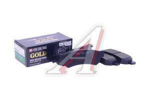 Колодки тормозные CHEVROLET Lacetti (06-) задние (4шт.) HSB HP2020, GDB4178/96800089, 96800089