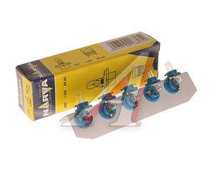 Лампа 24V 1.8W BAX8.4d голубой патрон NARVA 17067, N-17067