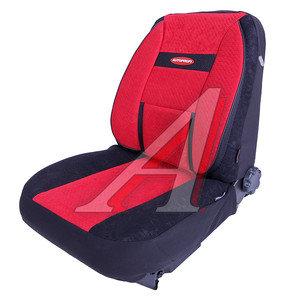 Авточехлы универсальные велюр (AIRBAG карманы) черно-красные (6 предм.) Transform Comfort AUTOPROFI TRS/COM-001 BK/RD