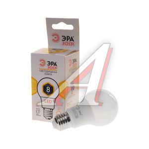 Лампа светодиодная E27 A60 8W (60W) теплый ЭРА ЭРА LED-SMD-A60-8W-827-E27 ECO, ЭРА LED smd A60-8w-827-E27 ECO (10/100/1200), Б0017920