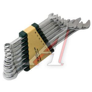 Набор ключей комбинированных 10-22мм 8 предметов в холдере изгиб 15град. FORCE F-5086