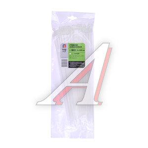 Хомут-стяжка 300х5.0 пластик белый (100шт.) FORTISFLEX 1005300, 49404