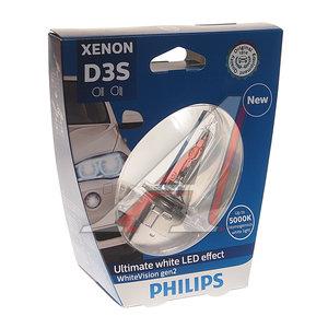 Лампа ксеноновая D3S 35W +120% PK32d-5 5000K Xenon White Vision Gen2 PHILIPS 42403WHV2S1, P-42403WHV2бл