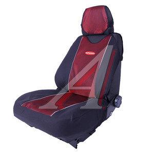 Авточехлы (майка) полиэстер (6 молний) черно-красные (9 предм.) Carbon Plus AUTOPROFI CRB-902PZ BK/RD