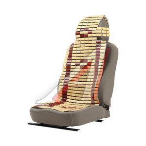 Накидка на сиденье массажная бамбуковая плоские пластины светлая с узором NOVA BRIGHT 44178 NovaBright, NB-44178