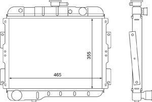 Радиатор ГАЗ-2410 медный 3-х рядный ШААЗ 24-1301010, 24-1301010ВВ, 24-1301010-21
