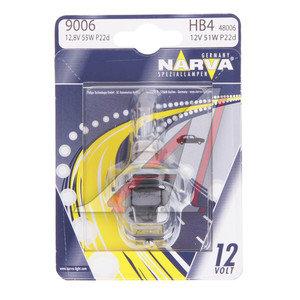 Лампа 12V HB4 51W P22d блистер (1шт.) NARVA 480064000, N-48006бл