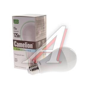 Лампа светодиодная E27 A60 15W (125W) холодный CAMELION Camelion LED15-A60/845/E27, 12197