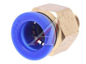 Соединитель трубки ПВХ,полиамид d=12мм (наружная резьба) М12х1.25 прямой PC M12x1.25 d=12, АТ-0708