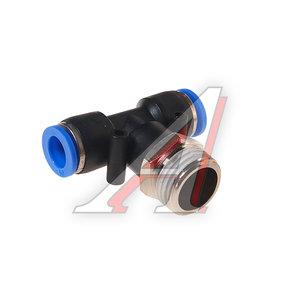 """Фитинг для пластиковых трубок 1/2"""" Т-образный 10мм с наружной резьбой ROCK FORCE RF-SPB10-04"""