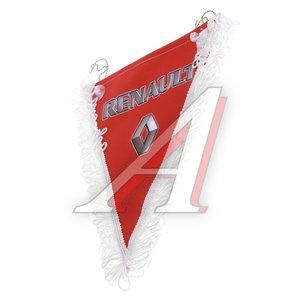 Вымпел RENAULT красный с бахромой (20х26см) на 2-х присосках 06508