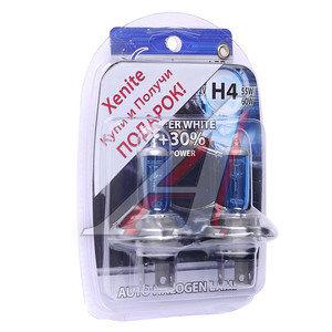 Лампа набор 12V H4 60/55W+30%+W5W/T105 блистер (2шт.+2шт.) Super White XENITE 1007052, АКГ12-60+55(Н4)