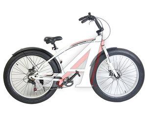 "Велосипед 26"" 7-ск. FATBIKE дисковые тормоза (AL-рама) NEWWAVE FORSAGE 25737, FS-FB26001, 79"