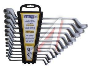 Набор ключей накидных 6-32мм 12 предметов в холдере изгиб 75град. MEGASEAL MS512620