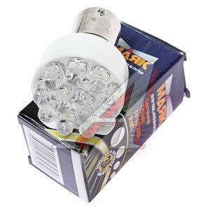Лампа светодиодная 24V R10W BA15s 12 светодиодов белая МАЯК 24T25-W/12LED, А24-10