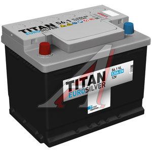 Аккумулятор ТИТАН Euro Silver 56А/ч 6СТ56, 83653