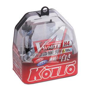 Лампа 12V H4 60/55W+100/90% P43t-38 бокс (2шт.) Whitebeam KOITO P0746W