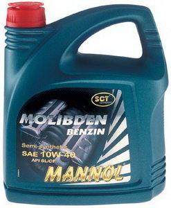 Масло моторное MOLIBDEN BENZIN 10W40 п/синт.4л MANNOL 1121, MANNOL SAE10W40