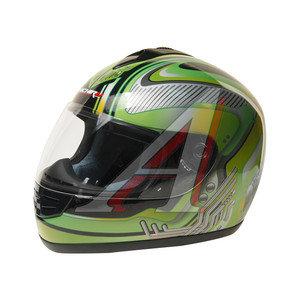 Шлем мото (интеграл) MICHIRU Mechanics Green MI 120 XL, 4650066000955