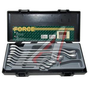 """Набор ключей накидных 1/4-15/16"""" 8 предметов в кейсе изгиб 45град. FORCE F-5085S"""