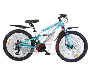 """Велосипед 24"""" 21-ск. двухподвесный дисковые тормоза (AL-рама) Legion HILAND T19B108-24 A, 162"""