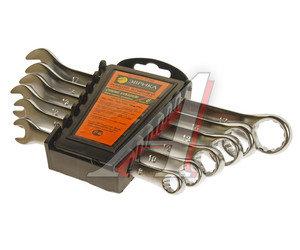 Набор ключей комбинированных 8-17мм 6 предметов в холдере сатинированные ЭВРИКА ER-31060