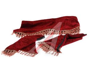 Ламбрекен RENAULT на лобовое стекло с уголками красный ЛАМБРЕКЕН RENAULT красный