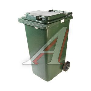 Контейнер мусорный 240л на колесах темно-зеленый 24.C29 IPLAST IP-386308, 24.С29 (20.802.20.РЕ; 21.052.20.РЕ)