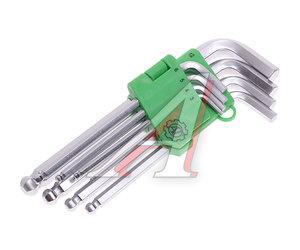 Набор ключей шестигранных 3-12мм удлиненных шаровых 8 предметов АТ-6620