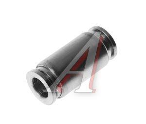 Соединитель трубки ПВХ,полиамид d=10мм прямой металлический MPUC10, АТ-0386/AT10386