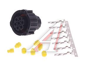 Разъем фонаря заднего байонет AMP (вилка,7 контактов) прямой MARS TECH M680045, 680043