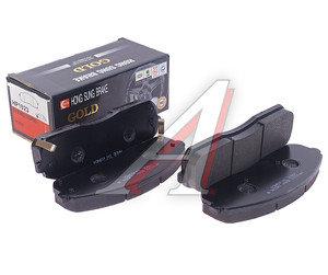 Колодки тормозные KIA Bongo 3 (06-) передние (4шт.) HSB HP1023, 58101-4EA00