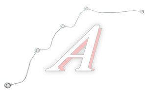 Трубка топливная КАМАЗ-ЕВРО дренажная форсунок левая (ОАО КАМАЗ) 740.11-1104346-10