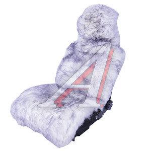 Накидка на сиденье мех натуральный (овчина) бело-серая 1шт. с карманом Jolly Extra PSV 121747, 121747 PSV