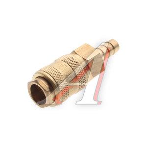 """Переходник для компрессора 8мм быстросъемный с клапаном """"елочка"""" латунный BSE1-3SH (код 6740), PN-BSE1-3SH"""