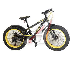 "Велосипед 20"" 7-ск. FATBIKE дисковые тормоза (AL-рама) BUMBLEBEE FORSAGE 25736, FS-FB20005, 78"