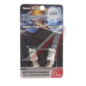 Лампа светодиодная 12V T4W BA9s блистер (2шт.) XENITE 1009354, А12-4-1