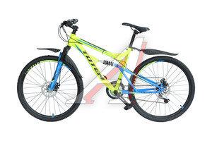 """Велосипед 26"""" 21-ск. двухподвесный дисковые тормоза лайм HAMMER TOTEM T15B109 B, T15B109"""