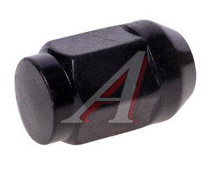 Гайка колеса М12х1.25х34 конус закрытая ключ 19мм черная RACING RACING, М12х1,25 L=34