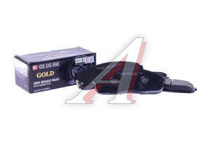 Колодки тормозные HYUNDAI Porter 2 передние (4шт.) HSB HP0029, 58101-4FA00