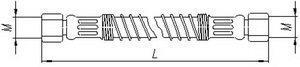 Шланг МАЗ механизма подъема платформы К=32 L=610мм 2SN16-25 5516-8609029
