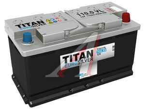 Аккумулятор ТИТАН Euro Silver 110А/ч обратная полярность 6СТ110