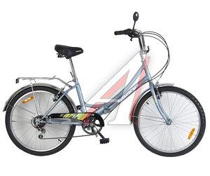 """Велосипед 24"""" 6-ск. складной серый Landscape HILAND T19B706 A, 164"""