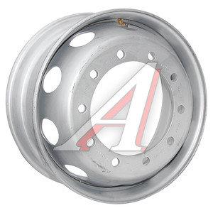Диск колесный МАЗ-6430,КАМАЗ,ЧМЗАП (9.00-22.5) ЗАИНСК (MEFRO) внешний вентиль 6430-3101012-04 (серебро), 384-3101012-04