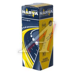 Лампа 12V H1 55W +50% P14.5s Range Power NARVA 483343000, N-48334RP, А12-55(Н1)