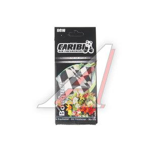 Ароматизатор подвесной пластина (цветочный букет) флаг Formula-1 CARIBI CRB-F1 цветочный букет