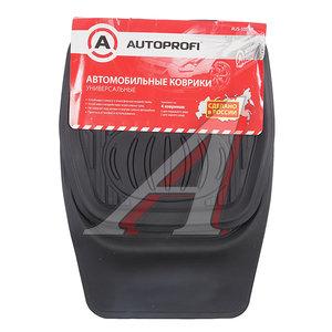 Коврик салона универсальный резина 70х50/48х50 черный (4предмета) AUTOPROFI RUS-105BK