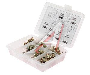Масленка М6х1, М8х1, М10х1 (90,180град.) набор 80 предметов (пластиковый бокс) PROLUBE PROLUBE PL-43973, PL-43973