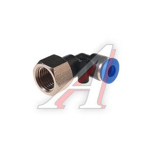 """Фитинг для пластиковых трубок 1/4"""" угловой 6мм с внутренней резьбой ROCK FORCE RF-SPLF06-02"""